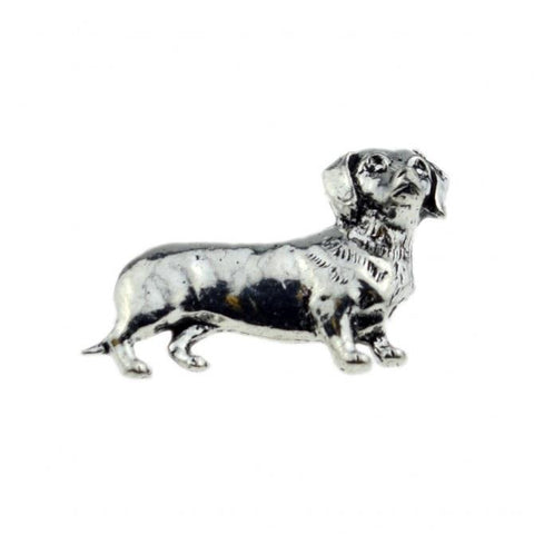 Sausage Dog Pewter Lapel Pin Badge - Minimum Mouse