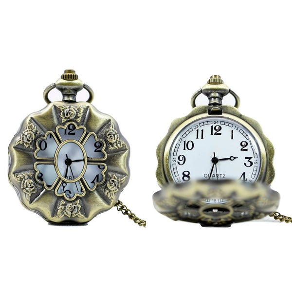 Scalloped Edge Quartz Pocket Watch - Minimum Mouse