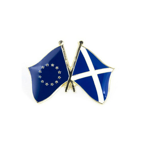 Scotland EU Flag Enamel Lapel Pin Badge - Minimum Mouse