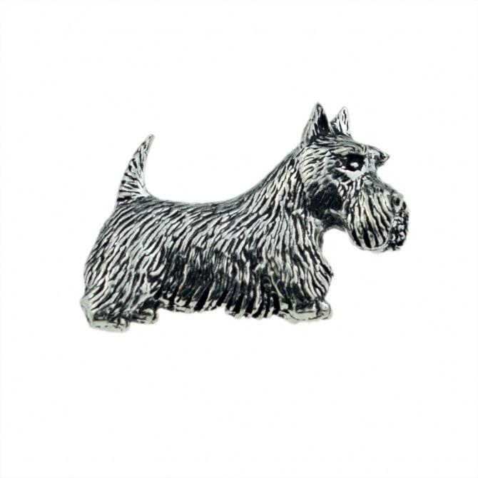 Scottie Dog Pewter Lapel Pin Badge - Minimum Mouse