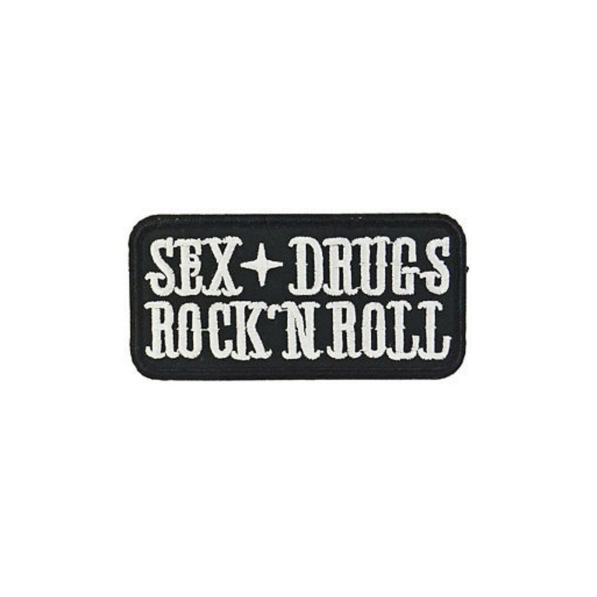Sex Drugs And Rock N Roll Iron On Patch - Minimum Mouse