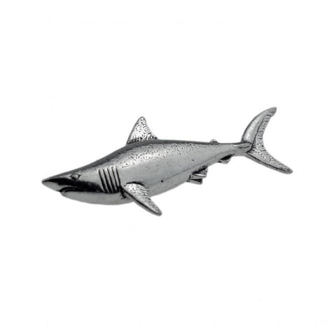 Shark Pewter Lapel Pin Badge - Minimum Mouse