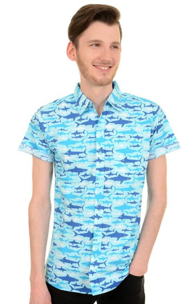 Shark Print Shirt by Run and Fly - Minimum Mouse