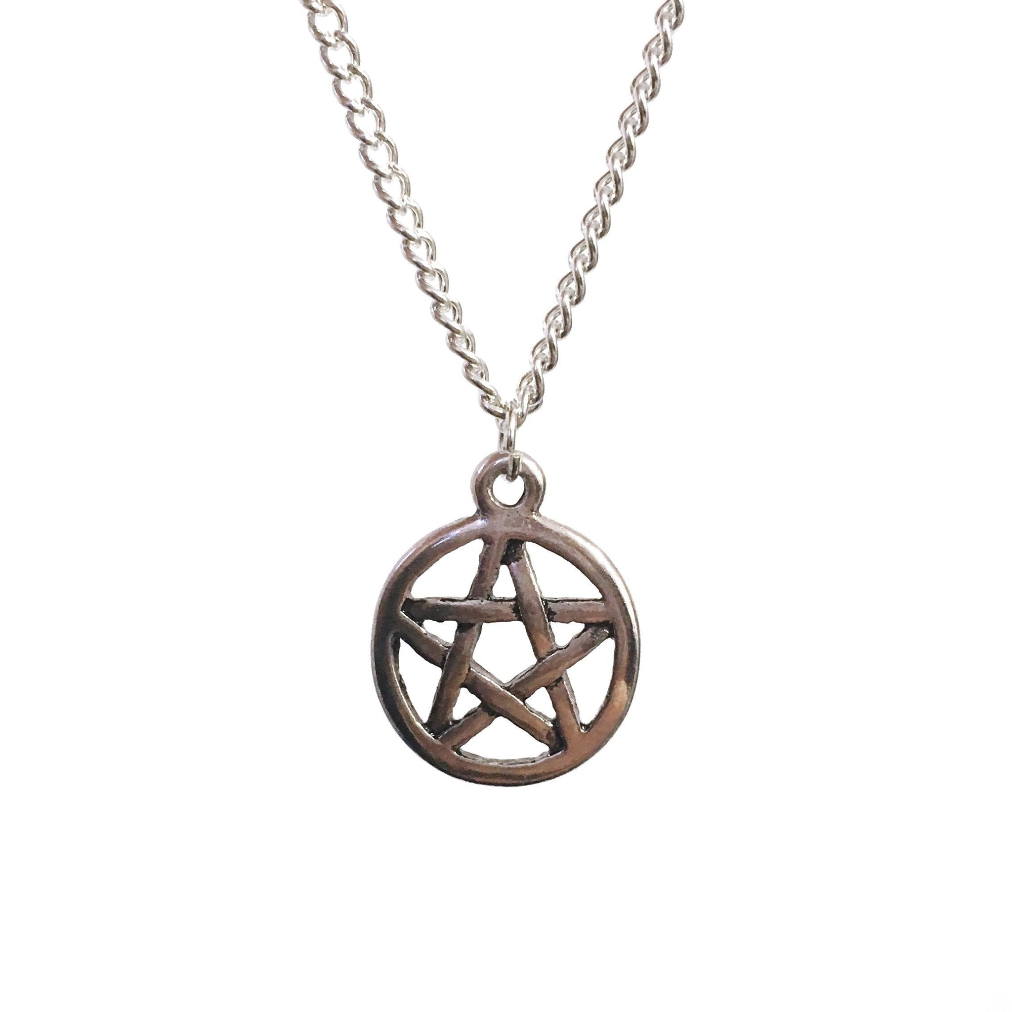 Silver Pentagram Pendant Necklace - Minimum Mouse