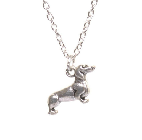 Silver Sausage Dog Necklace - Minimum Mouse