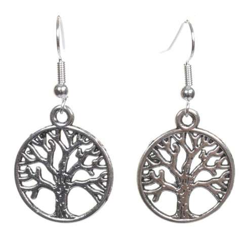 Silver Tree Of Life Earrings - Minimum Mouse