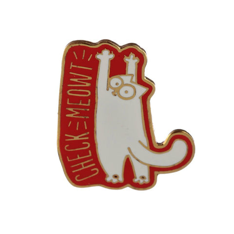 Simon's Cat Enamel Lapel Pin Badge - Minimum Mouse