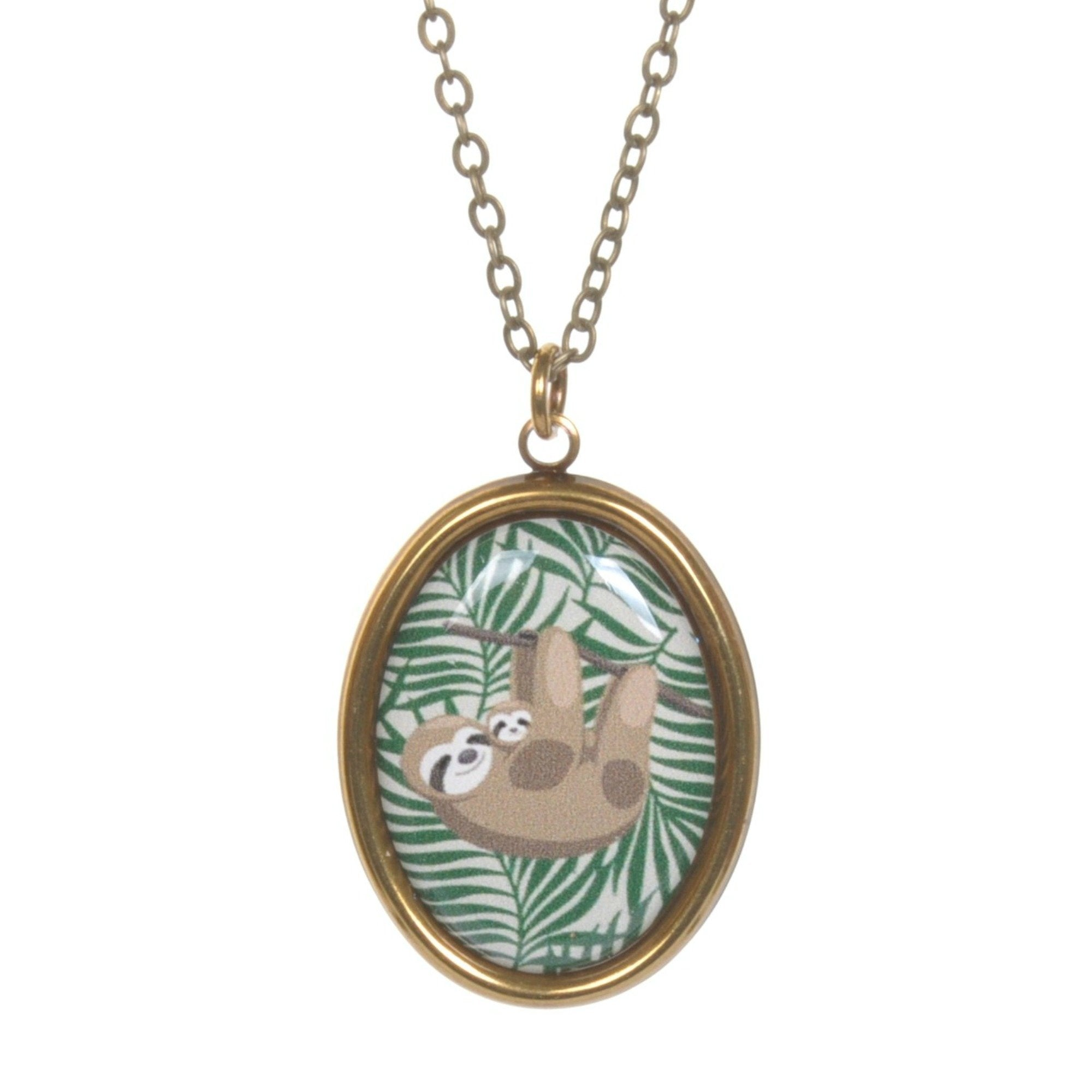 Sloth Cameo Necklace by Love Boutique - Minimum Mouse