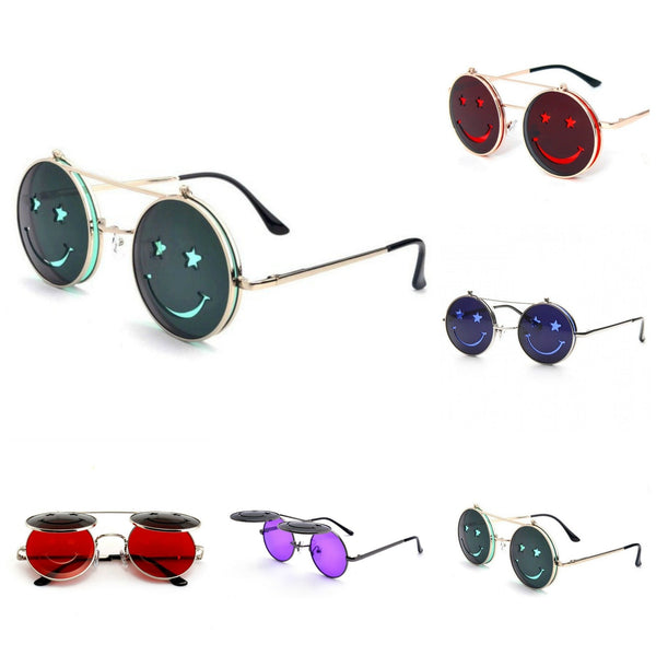 SMILEY Flip Up Face Sunglasses - Minimum Mouse