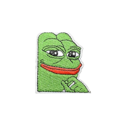 Smug Pepe Iron On Patch - Minimum Mouse