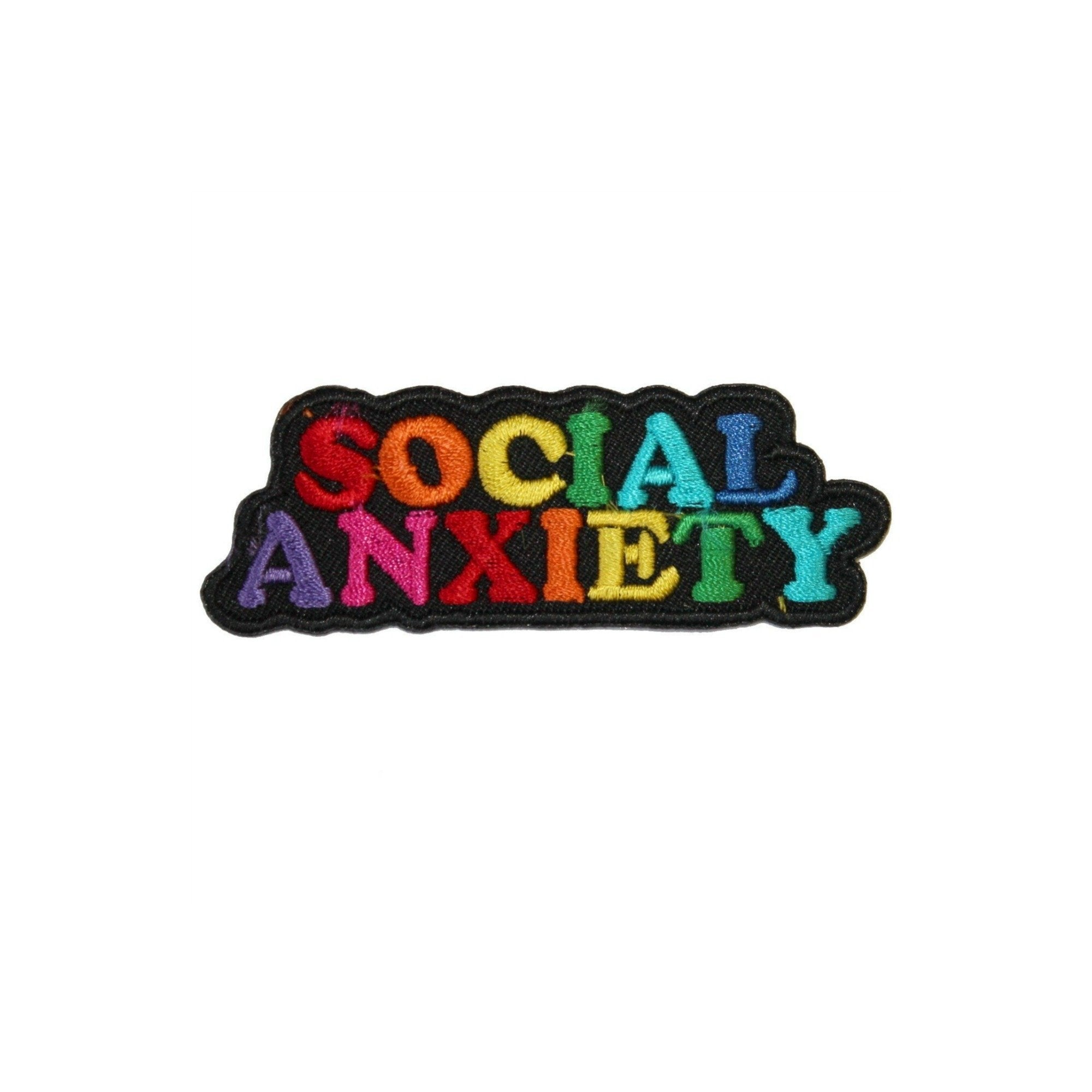 Social Anxiety Rainbow Iron On Patch - Minimum Mouse