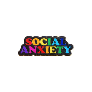 Social Anxiety Rainbow Lapel Pin Badge - Minimum Mouse