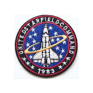 Space Shuttle Command Iron On Patch - Minimum Mouse