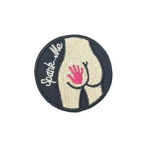 Spank Me Iron On Patch - Minimum Mouse