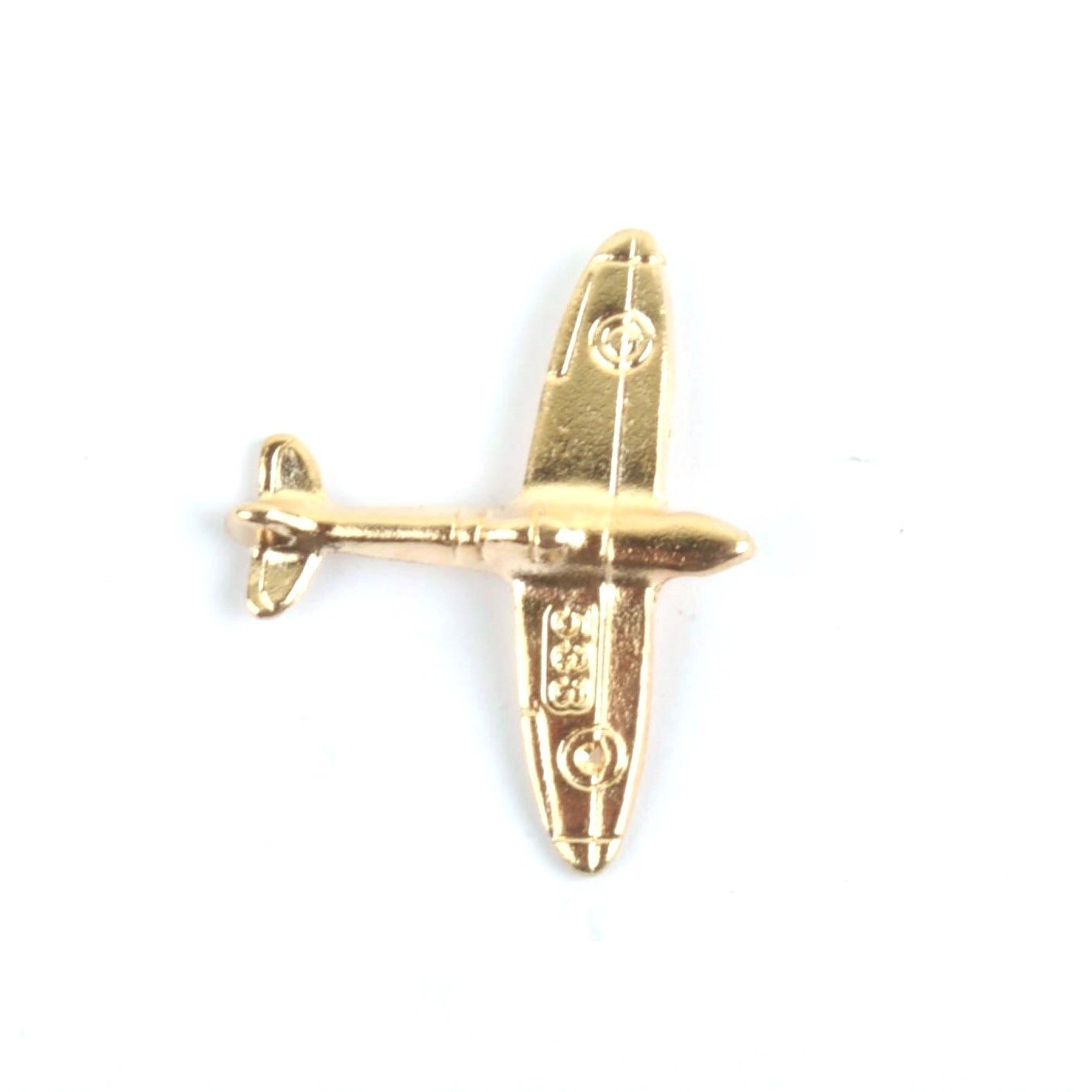 Spitfire Gold Aeroplane Lapel Pin Badge - Minimum Mouse