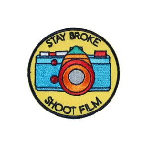 Stay Broke Shoot Film Iron On Patch - Minimum Mouse