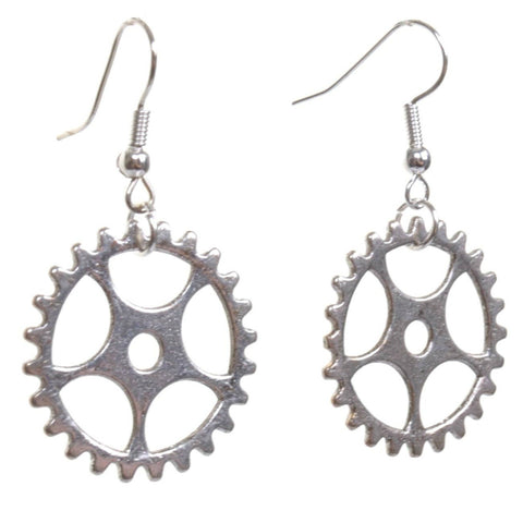 Steampunk Clock Gears Dangle Earrings - Minimum Mouse