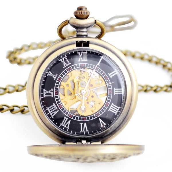 Steampunk Cogs Mechanical Hand Wind Pocket Watch - Minimum Mouse