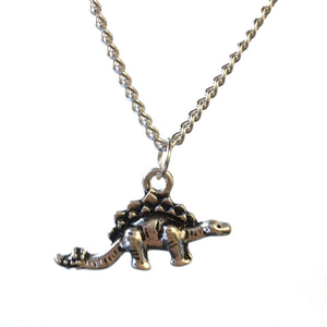 Stegosaurus Dinosaur Necklace - Minimum Mouse