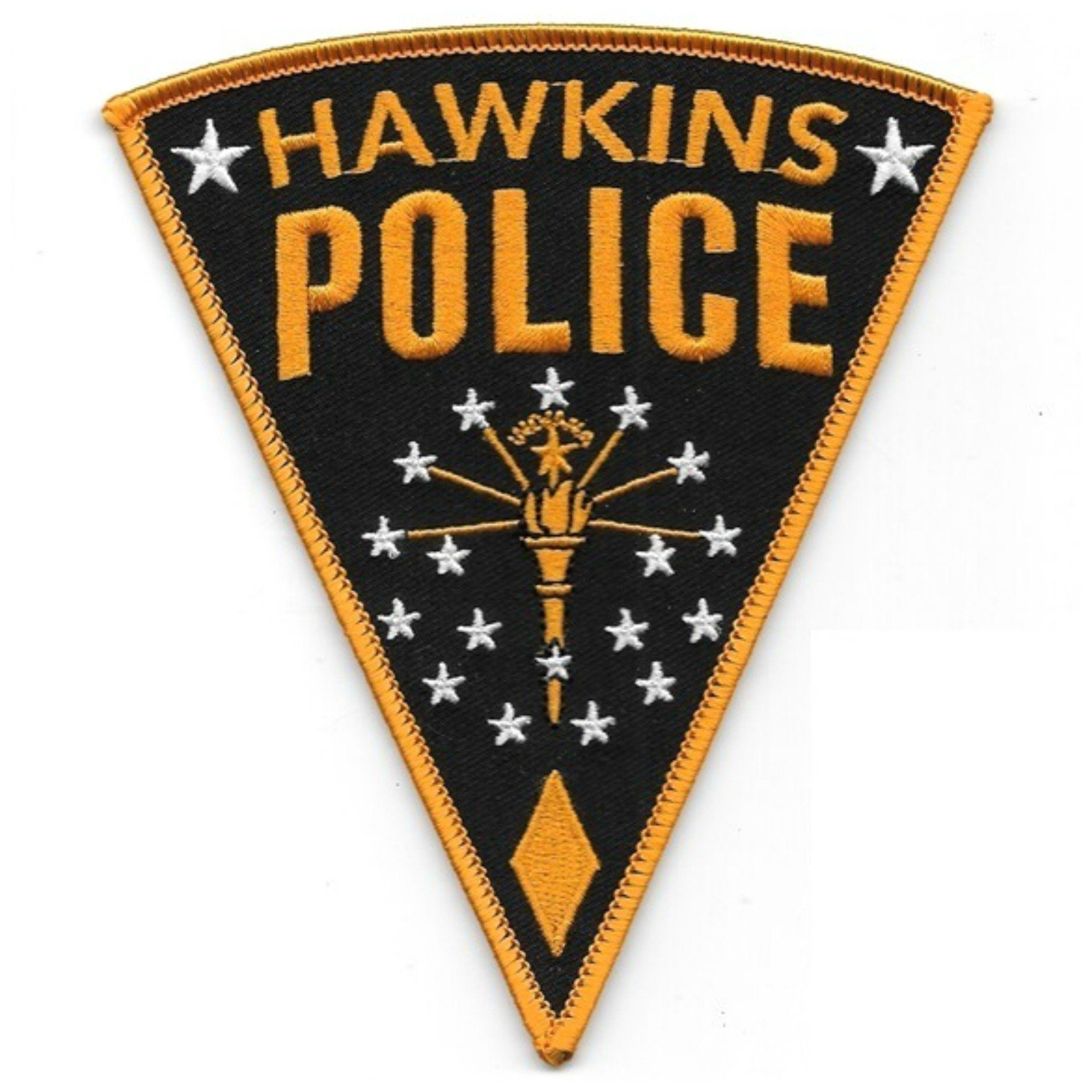 Stranger Things Hawkins Police Iron On Patch - Minimum Mouse