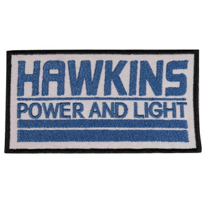 Stranger Things Hawkins Power and Light Iron On Patch - Minimum Mouse