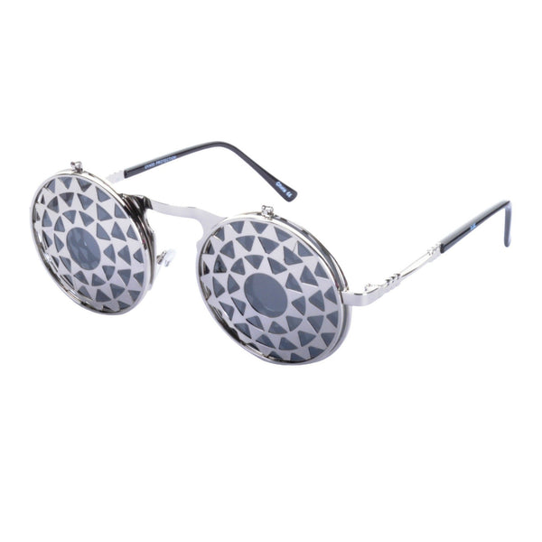 SUNDIAL Flip Up Steampunk Sunglasses - Minimum Mouse