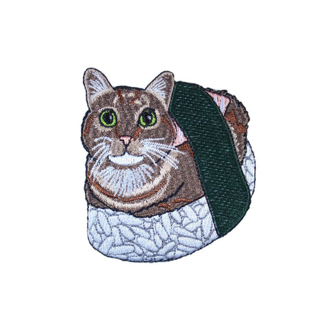 Sushi Cat Iron On Patch - Minimum Mouse
