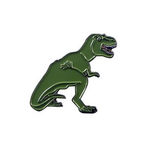 T Rex Dinosaur Enamel Lapel Pin Badge - Minimum Mouse