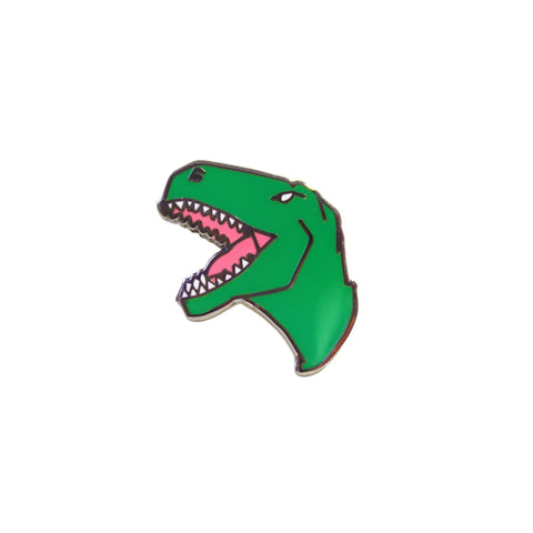 T Rex Enamel Dinosaur Lapel Pin Badge - Minimum Mouse
