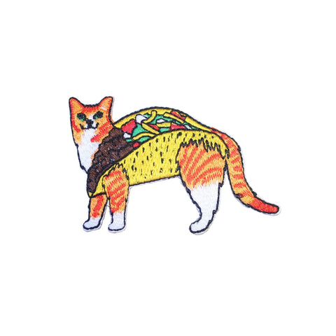 Taco Cat Iron On Patch - Minimum Mouse