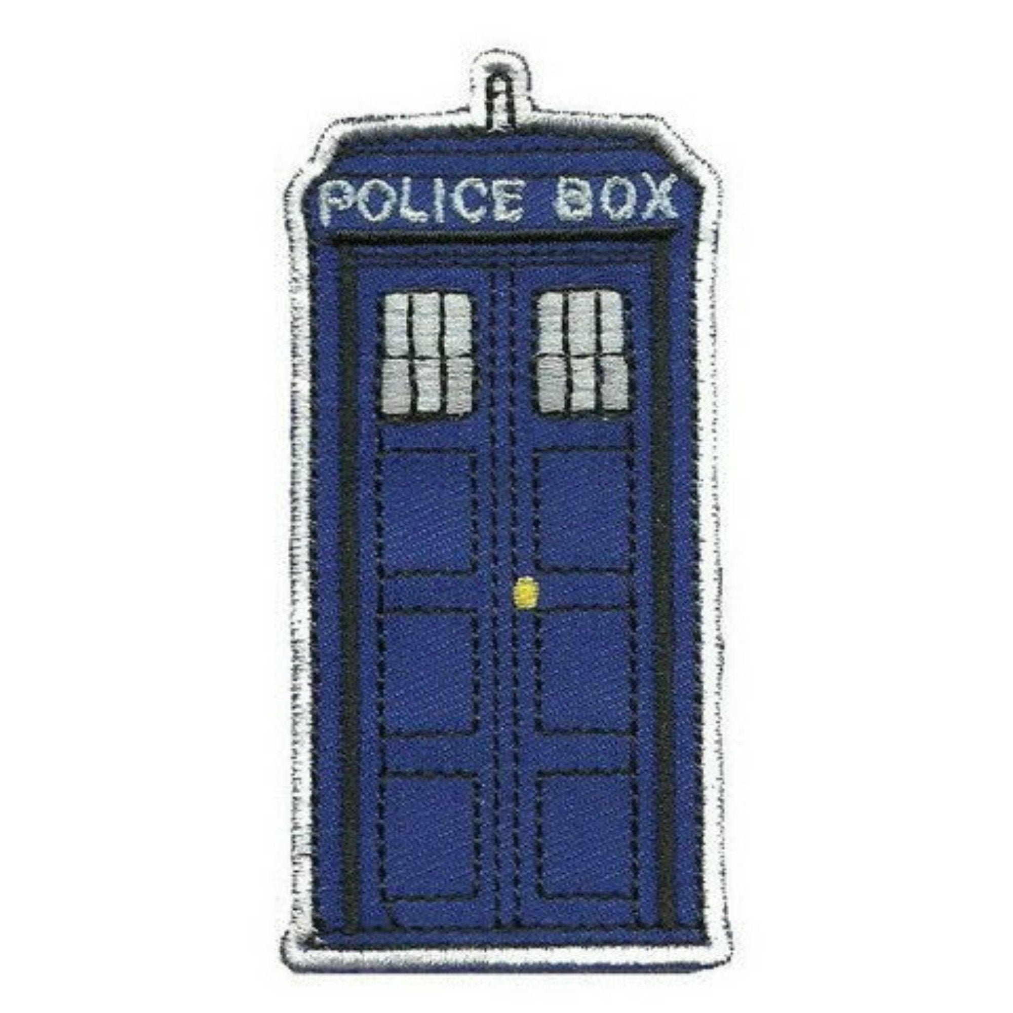 TARDIS Police Box Iron On Patch - Minimum Mouse