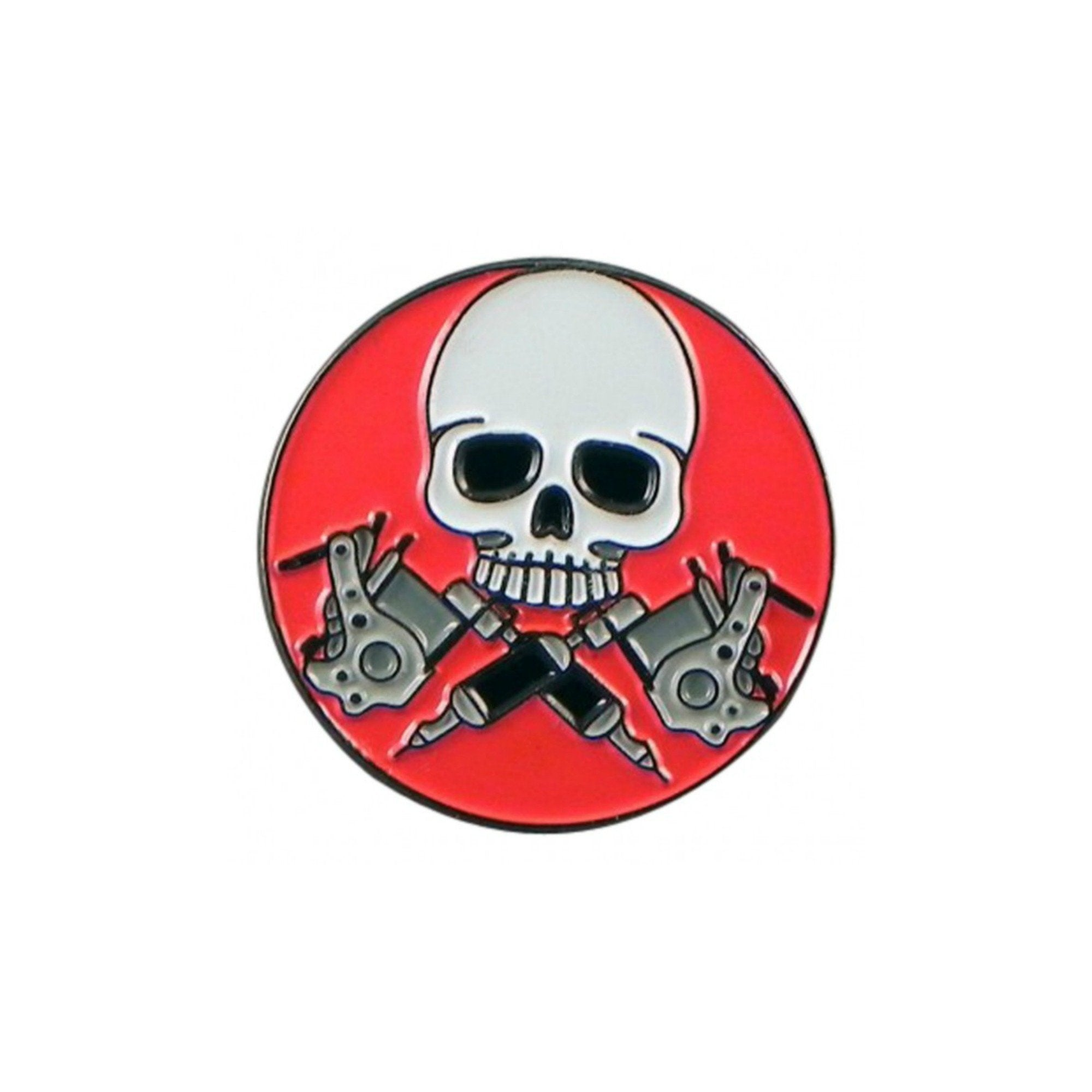Tattooist Skull Lapel Pin Badge - Minimum Mouse