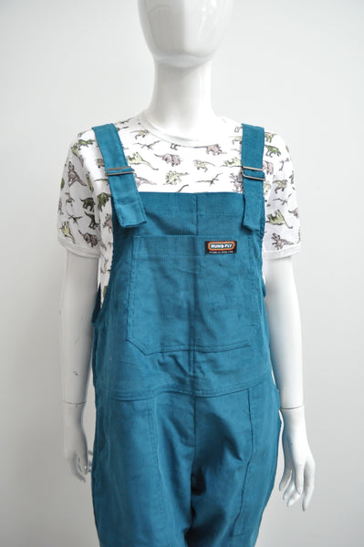Teal Corduroy Dungarees by Run and Fly - Minimum Mouse