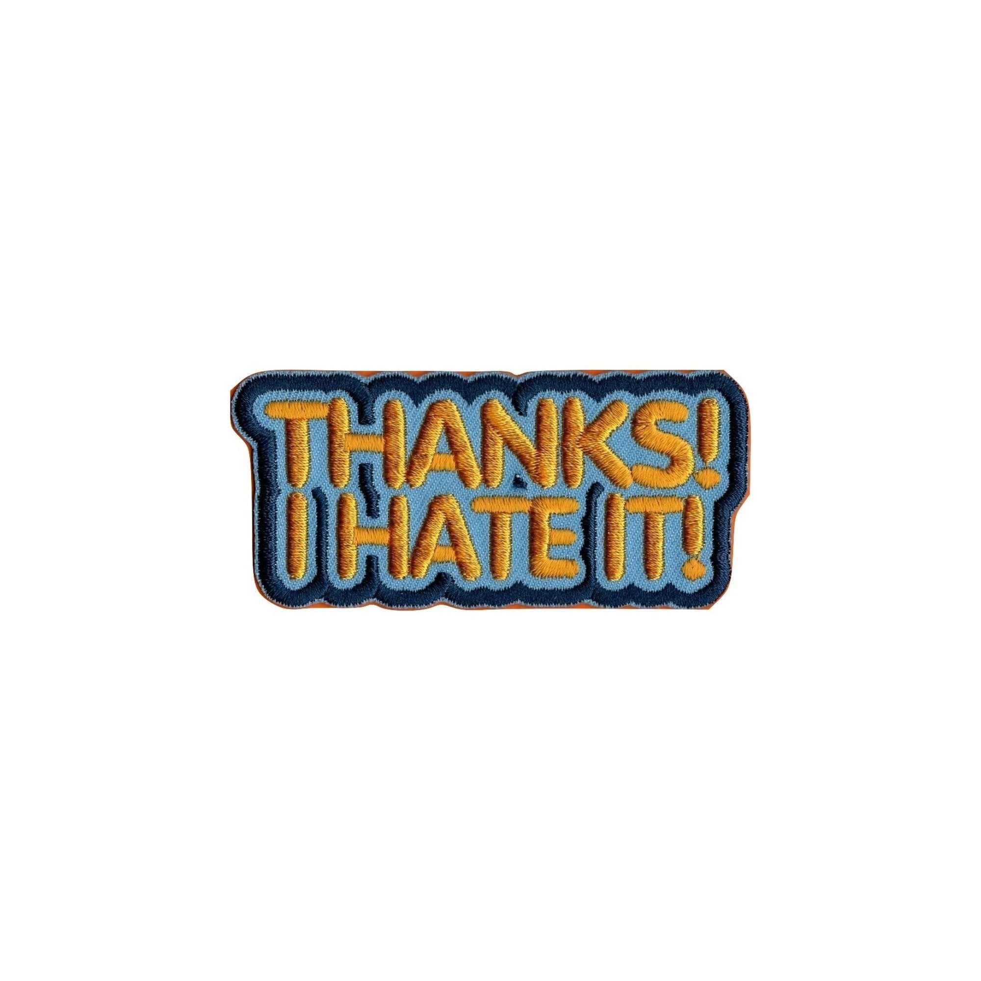 Thanks! I Hate It! Iron On Patch - Minimum Mouse