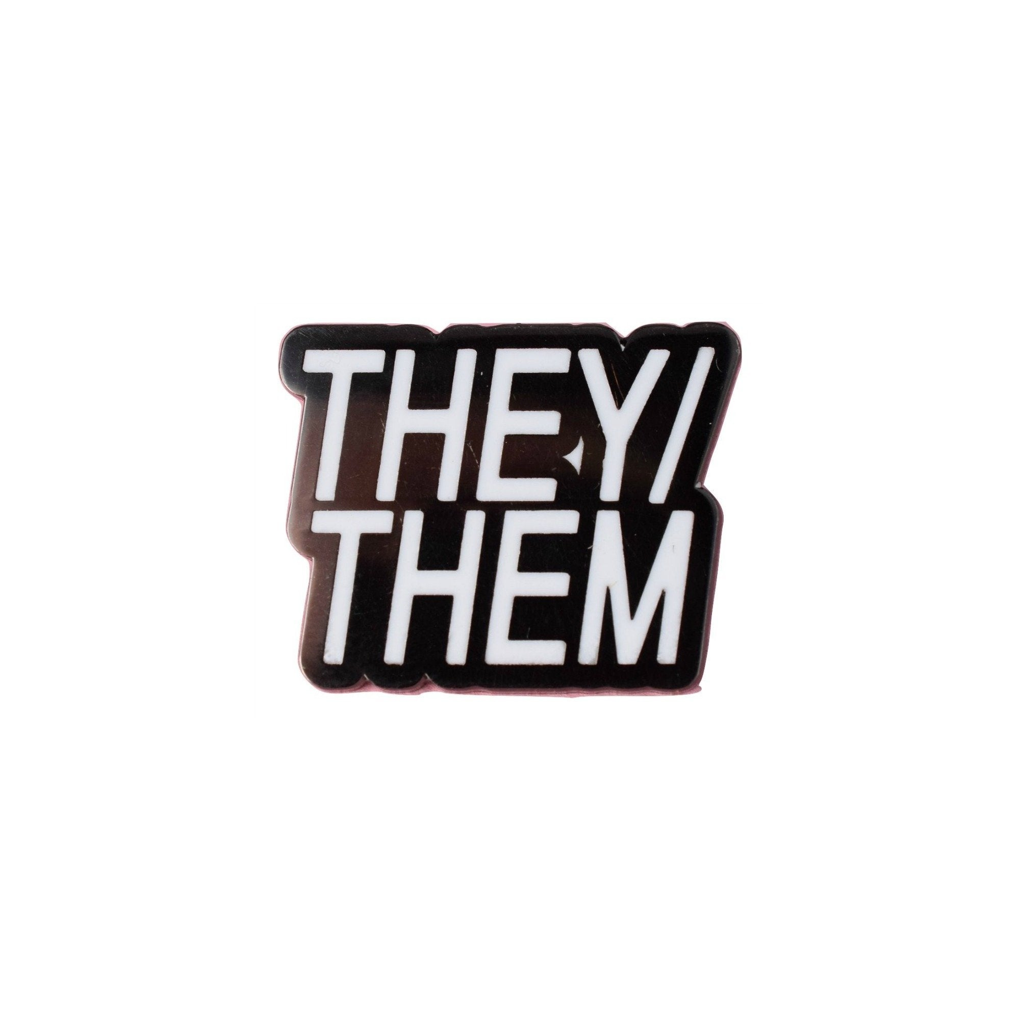 They/Them Pronoun Lapel Pin Badge - Minimum Mouse
