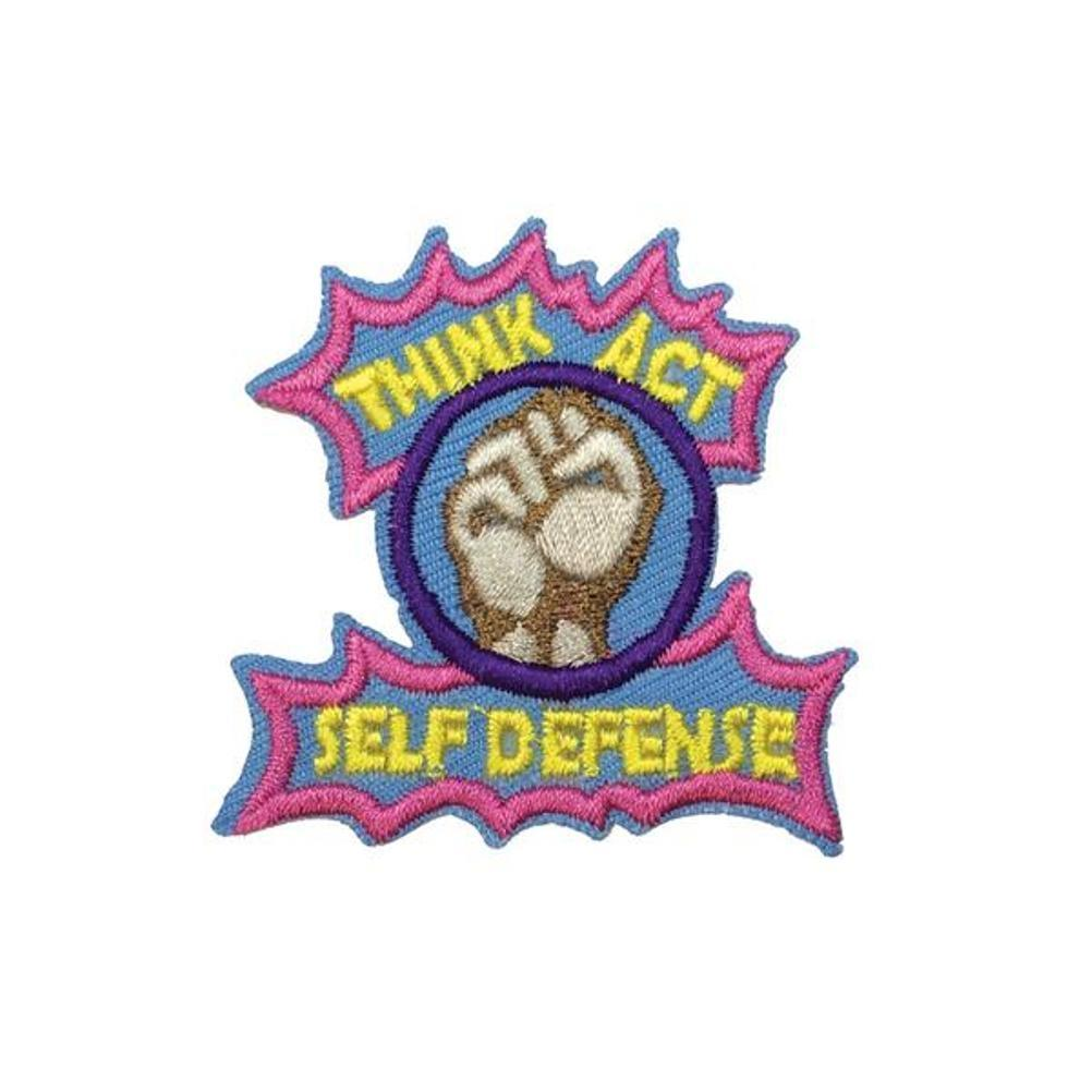 Think Act Self Defense Iron On Patch - Minimum Mouse