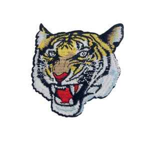 Tiger Face Iron On Patch - Minimum Mouse