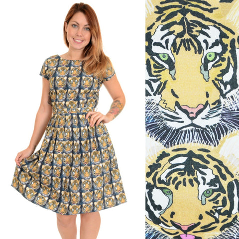 Tiger Print Dress by Run and Fly - Minimum Mouse
