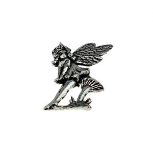 Toadstool Fairy Pewter Lapel Pin Badge - Minimum Mouse