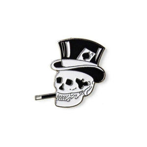 Top Hat Skull Enamel Lapel Pin Badge - Minimum Mouse