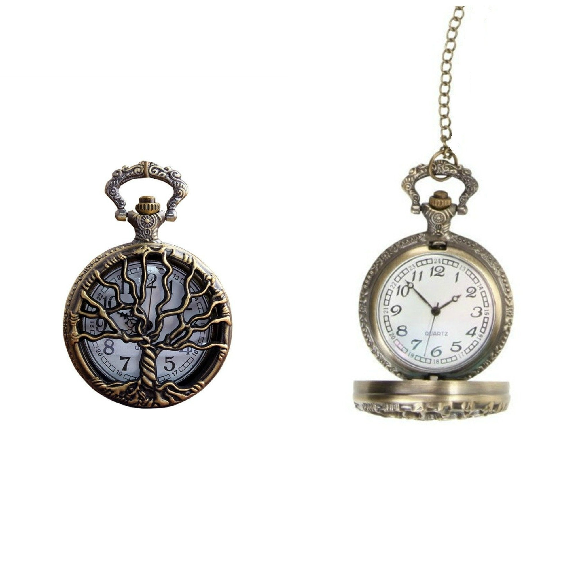 Tree Of Life Quartz Pocket Watch - Minimum Mouse