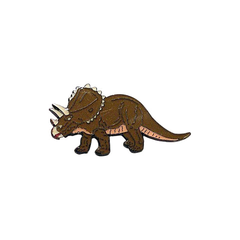 Triceratops Dinosaur Enamel Lapel Pin Badge - Minimum Mouse