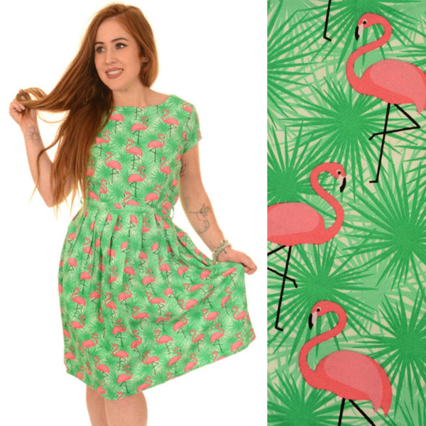 Tropical Flamingo Dress by Run and Fly - Minimum Mouse