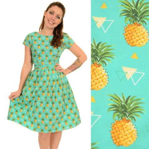 Tropical Pineapple Print Dress by Run and Fly - Minimum Mouse