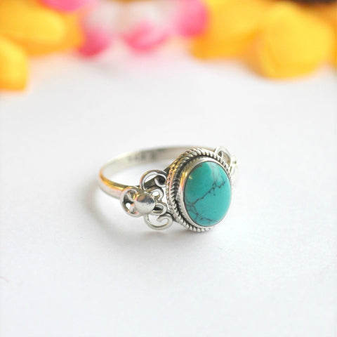 Turquoise Sterling Silver Ring - Minimum Mouse