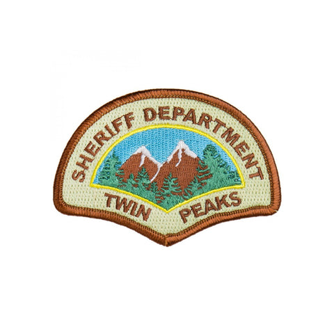 Twin Peaks Sheriff Department Iron On Police Patch - Minimum Mouse