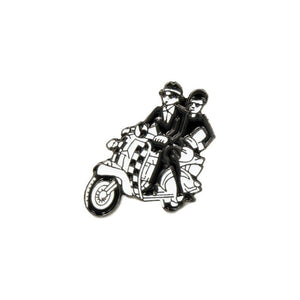 Two Tone Scooter Couple Lapel Pin Badge - Minimum Mouse
