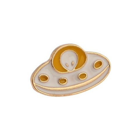 UFO Alien Space Lapel Pin Badge - Minimum Mouse