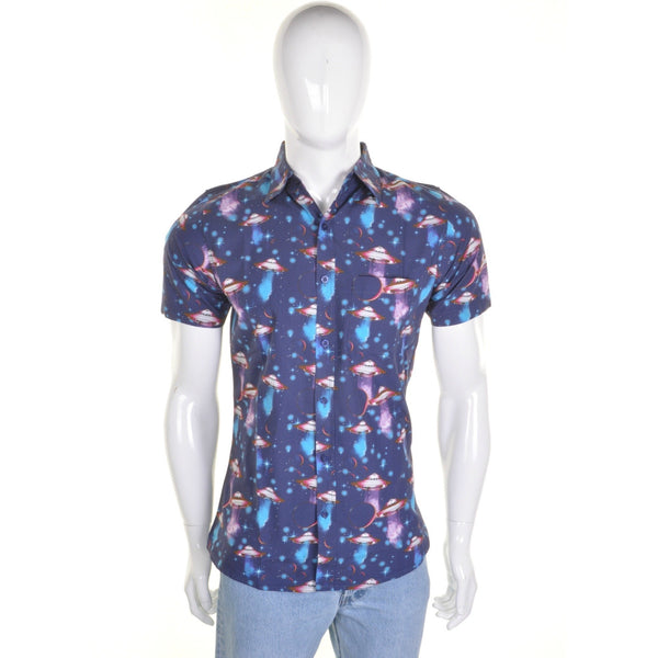 UFO Space Print Shirt by Run and Fly - Minimum Mouse