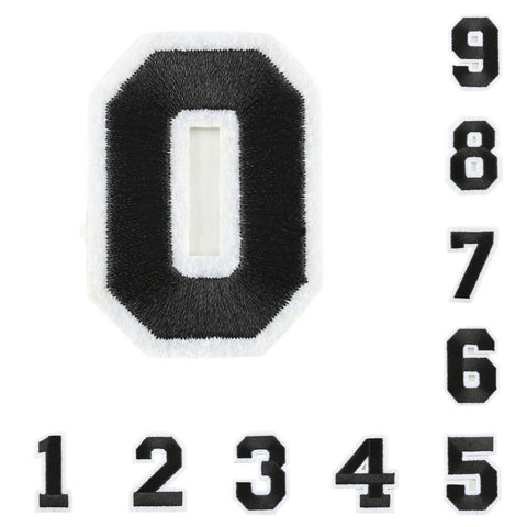 Varsity Number Iron On Patch - Minimum Mouse